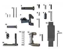 Geissele Super Duty Lower Parts Kit, No Grip LPK