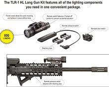 Streamlight TLR-1 HL with Long Gun Kit AR15 Remote Pressure Pad Switch AR-15