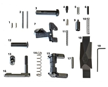 Geissele Ultra Duty Lower Parts Kit, No Grip LPK