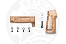 Battle Arms Two Piece Wood Furniture Kit with Pistol Grip and Handguard for AR15 Rigidrail or AR-15 Workhorse 6.7