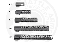 BATTLEARMS WORKHORSE Free Float Rail M-LOK MLOK Battle Arms Work Horse AR15