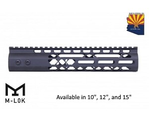 Guntec USA Black Air Lite M-LOK Free Float Handguard