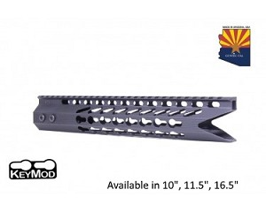 Guntec USA Black Ultra Slimline Octagonal 5 Sided Keymod Free Float Handguard W/ Shark Mouth