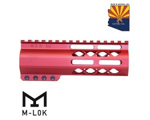 "Guntec USA 6"" Air-LOK Series M-LOK Compression Free Float Handguard-RED"