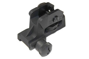 Guntec A2 Windage and Elevation Adjustable Tactical Rear Sight Fixed