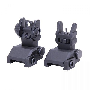 Guntec USA AR15 Adjustable Elevation Front Flip Up RAPID ACQUISITION PRECISION SIGHTS RAPS Iron Sight Set AR-15