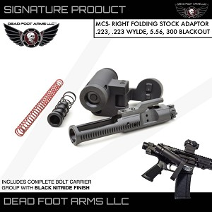 Dead Foot Arms MCS Modified Cycle RIGHT Side Folder AR15 RIFLE Direct Impingement AR-15 Deadfoot Choose 5.56 or 9mm