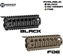 Midwest MCTAR-17G2 AR15 Carbine GEN2 Drop In Quad Handguard Piston Compatible Rail