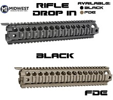 Midwest Industries Drop In Rifle Length Gen2 Handguard Quad Rail MI