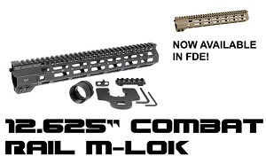 "Midwest MI Combat Rail 12.625"" M-LOK One Piece Free Float Handguard"