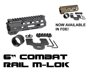 "Midwest MI Combat Rail 6"" M-LOK One Piece Free Float Handguard"