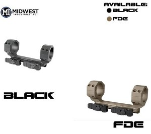 Midwest MI-QD30SMHD 30mm QD Scope Mount Heavy Duty AR15 Rings with Zero Offset