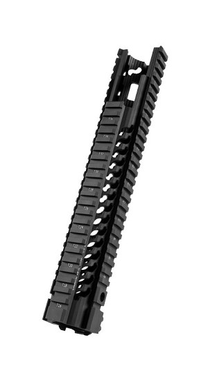 Samson Manufacturing STAR-9-EX Mid Free Float Star Rail AR15 Midlength Extended Quad Handguard