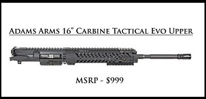 Adam's Arms 16° Carbine Tactical Evolution Piston AR15 Upper AR-15 Adams
