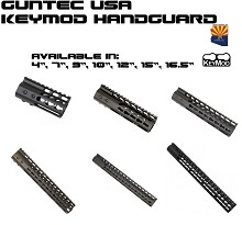 Guntec USA BLACK LIGHTWEIGHT Keymod Free Float Handguard AR15 AR-15