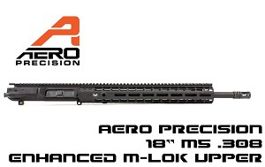 "Aero M5E1 Enhanced 18"" .308 CMV M5 Complete Upper Receiver 15"" Gen2 M-LOK Handguard"