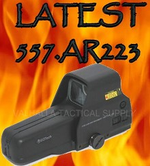 EOTech 557.AR223 HWS .223 Ballistic Reticle Side Buttons 557