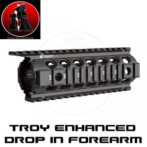 "Troy Drop-In Enhanced 7"" Carbine M4 Battlerail AR Piston Compatible"