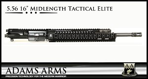 "Adams Arms UA-16-M-TE-556 5.56 16"" Midlength Tactical Elite Complete Piston Upper"
