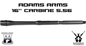 "Adams Arms 5.56 16"" Carbine M4 Gov Profile .750 1:7 Voodoo AR15 Barrel"