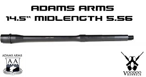 "Voodoo 14.5"" Mid Length Government Profile AR15 Barrel AR-15 VDIBRL-14.5-M-G-556-M-T-L"