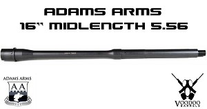 "Adams Arms 5.56 16"" Midlength Government .750 1:7 Voodoo AR15 Barrel"
