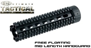 UTG Mid Length AR15 Free Float Quad Rail System MNT-HG416MF