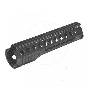"Troy SDMR 10"" Quad Rail One Piece Free Float AR15 Milspec Keymod"