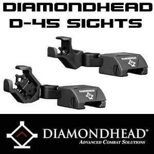 Diamondhead Swing Out Sights D-45 USA AR15 Integrated Sighting System