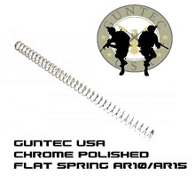 Guntec USA Premium Quiet AR15/AR10 Adjustable FLAT CHROME SPRING