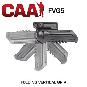 Folding 5-Position Forearm Grip with Compartment CAA-FVG5