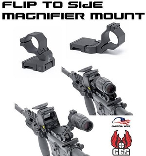 GG&G AR15 Flip to Side Magnifier Mount 30mm Ring GGG-1670 AR-15