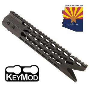 "Guntec USA 10"" FDE Slim Octagon 5 KEY MOD Free Float Shark Handguard"