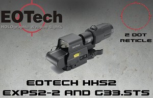EOTECH MPO III HHS2 Holo Sight W/ 3X Magnifier EXPS2.2 G33.STS