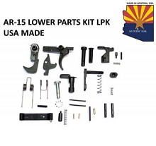 Guntec USA Made AR15 Complete LPK Lower Parts Kit Optional Grips