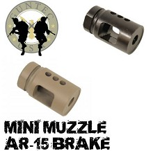 Guntec USA AR-15 Micro Comp Steel AR15 Short Compensator Brake