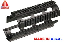 UTG PRO AR15 Carbine Length Quad Rail System Black ODG Multicam