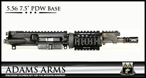 "Adams Arms UA-7.5-P-B-556 5.56 PDW Base 7.5"" Piston Upper AR15 Pistol AR-15"
