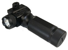 Guntec QD Aluminum Vertical Forward Grip w/ CREE LED Flashlight