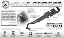 Guntec USA AR-15 TOOL AR15 Multitool Armorer's Wrench