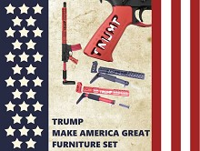Trump AR15 Furniture Set Make America Great Guntec USA AR-15