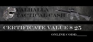 Valhalla Tactical Cash $25 Gift Certificate