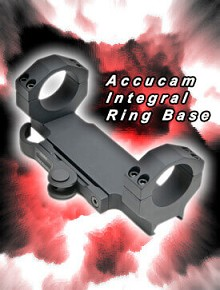 GGG-1199 Bolt Gun Accucam Quick Detach Base +Integral 30mm Rings