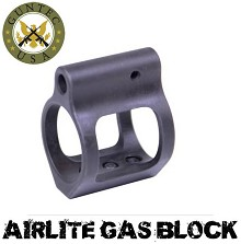 Guntec USA AR15 AIRLITE Skeletonized Steel Low Profile Gas Block BLACK