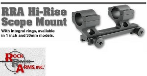 "Rock River Arms RRA Hi-Rise Scope Mount 30mm or 1"" Rings AR15"