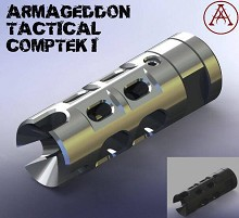 Armageddon CompTek I Brake 5.56 Silver or Black 4140 Melonite