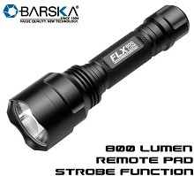 Barska 800 Lumen LED Tactical Flashlight Pressure Pad FLX Strobe