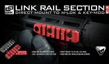 Strike Industries Red Accessory Rail SI 6 Slot Link Fits BOTH Keymod & M-LOK