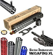 Strike SI-MEGAFINS-XL-MLOK-10-RED MEGAFINS XL M-LOK Rail 10