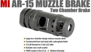 Midwest Industries MI-MB4 AR-15 Two Chamber AR15 Muzzle Brake